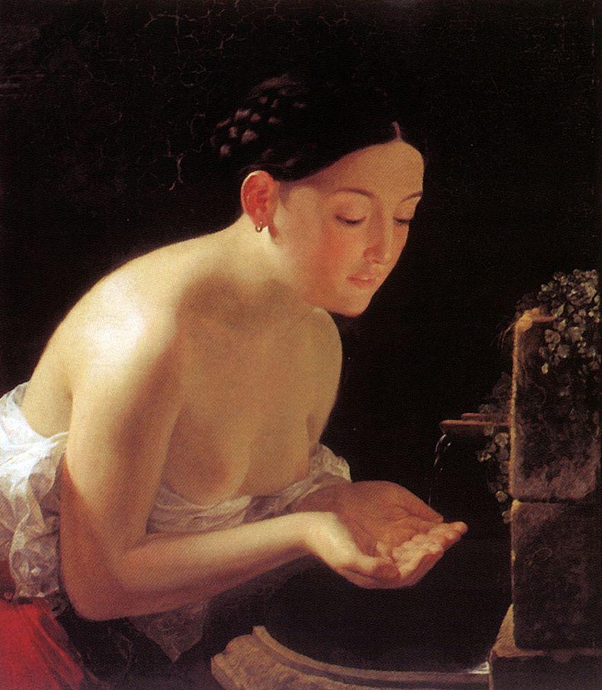 Paintigs of Italy - Karl Bryullov, Italian morning, 1823, Kunsthalle, Kiel, Germany.